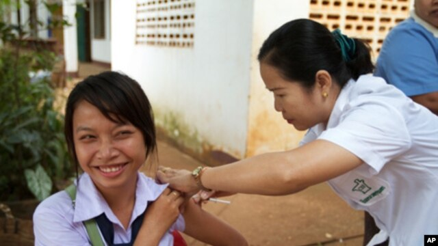 Laos conducted its first measles-rubella campaign in November 2011. A combined measles-rubella vaccine costs about $1.50. Adding rubella to vaccination programs will help to stop the rubella virus, which can cause devastating birth defects to newborns inc