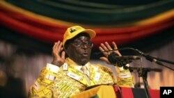 津巴布韋總統穆加貝(資料圖片)