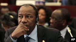 Guinea President Alpha Conde (file photo)