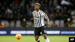 Le joueur Paul Pogba de la Juventus Turin (AP Photo/Antonio Calanni)