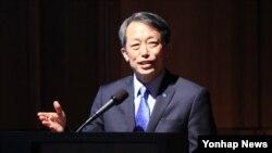 7일 서울에서 열린 '제14차 한·유엔 군축·비확산회의'가 '에서 김원수 유엔 고위군축대표 대행이 인사말을 하고 있다.