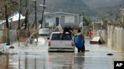 Badai Maria pekan lalu meluluhlantakkan Toa Baja, Puerto Rico (22/9).