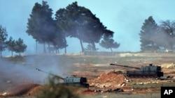 شامی سرحد کے قریب ترک فوج