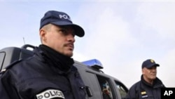 Frontex police officers patrol near the border with Turkey as they deploy to help Greece control the crossing of illegal immigrants (File Photo)