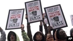 Hơn 1.000 người tuần hành tại thành phố New York để phản đối vụ bắn chết một thiếu niên người Mỹ gốc Phi ở Florida