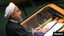 Iranski predsednik, Hasan Rohni na 69. zasedanju Generalne Skupštine Ujedinjenih nacija, 25. septembar 2014.