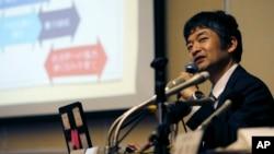 Dr. Iwaho Kikuchi of Juntendo University Urayasu Hospital speaks during a press conference in Urayasu near Tokyo, June 16, 2016.