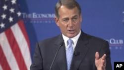 Ketua DPR AS dari Partai Republik, John Boehner menyatakan dukungan bagi Romney pada hari Selasa 17/4 (foto: dok).