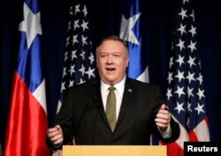 Держсекретар США Майк Помпео виголошує промову в Чилі