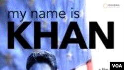 """Poster film berbahasa Hindi yang dibuat di AS: """"My Name is Khan"""". Film ini cukup diminati di berbagai negara di luar India."""
