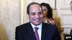 Le président égyptien Abdel Fattah al-Sisi,Paris, 25 octobre 2017.