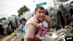 La caravana de migrantes, en fotografías