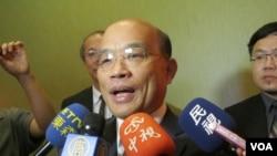 民进党主席苏贞昌(美国之音容易拍摄)