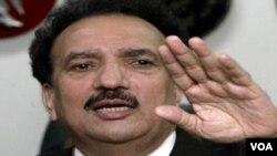 """Menteri Dalam Negeri Pakistan Rehman Malik ia bakal """"terkejut"""" apabila pemimpin senior Taliban Pakistan Maulvi Faqir Mohammed dan komandan Qari Ziaur Rehman berhasil meloloskan diri hidup-hidup."""