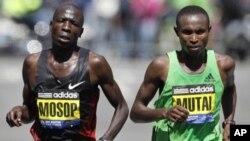 Wanariadha wa Kenya katika mbio za Boston Marathon, April 18, 2011