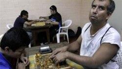 مسابقه شطرنج نابينايان در مکزيک