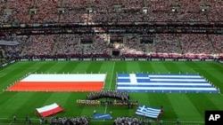 2012년 유로 축구 폴란드 대 그리스 개막전.