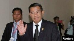 Thủ tướng Hun Sen tại Trụ sở Quốc hội ở Phnom Penh, ngày 24/9/2013.