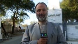 VOA reporter Mukarram Khan Aatif shown in northwest Pakistan in January 2012.