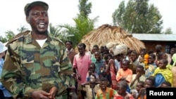 FILE - Congolese warlord Thomas Lubanga led the Patriotic Forces for the Liberation of the Congo, a rebel militia intent on controlling the gold-rich Ituri region in the DRC, Aug. 22, 2012.