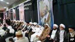Les funérailles de Sheikh Nimr al-Nimr al-Awamiya, en Arabie Saoudite.