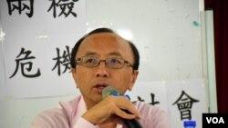 香港大學法律學院首席講師張達明 (美國之音湯惠芸拍攝)