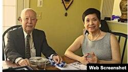 Đề đốc Lâm Ngươn Tánh, Tư Lệnh Hải quân VNCH, người chỉ huy trận Hải chiến Hoàng Sa, và vợ ông (Web Screenshot)
