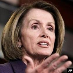 即將擔任眾議員民主黨領袖﹐即將離任的眾議院議長南希‧佩洛西