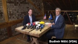 Kosovo, Pristina, Hashim Taci and Richard Grenell at the meeting in Pristina