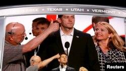Le président de la Chambre des représentants Paul Ryan participe à la répétition à l'arène de Quicken Loans alors que les prépératifs continuent à Cleveland, Ohio, le 17 juillet 2016.
