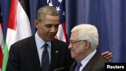 Tổng thổng Obama tham gia một cuộc họp báo chung với Tổng thống Palestin Mahmoud Abbas, 21/3/2013. REUTERS/Jason Reed