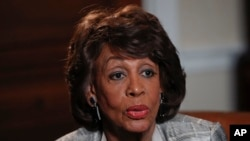 """Rep. Maxine Waters, D-Calif., speaks during an interview at her congressional office on Capitol Hill in Washington, March 23, 2017. Waters skipped President Donald Trump's first address to Congress after calling him abnormal, """"potentially dangerous for th"""