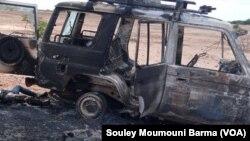 'Yan bindiga sun hallaka faransawa 6 da 'yan Nijar 2 a gabashin Niamey, Lahadi 08,09,2020.