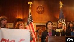 Dolores Huerta participa de la campaña We Belong Together por la reforma migratoria.