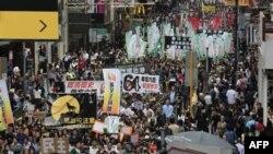 تظاهرکنندگان در هنگ کنگ خواستار عدم مداخله پکن در انتخاب مسئول اجرايی شهر