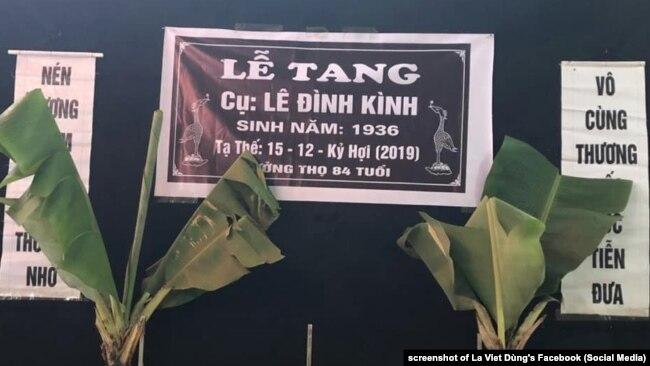 Lễ tang ông Lê Đình Kình ngày 13/01/2020.