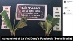Lễ tang ông Lê Đình Kình, thiệt mạng trong vụ cảnh sát đột kích vào Đồng Tâm, diễn ra hôm 13/1/2020.
