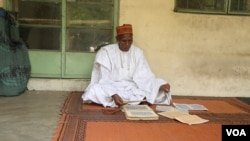 Mallam Goni says he has attended more funerals in the past few months that ever in his 30-year career as an Islamic preacher in Maiduguri, Nigeria, October 2016. (C. Oduah/VOA)