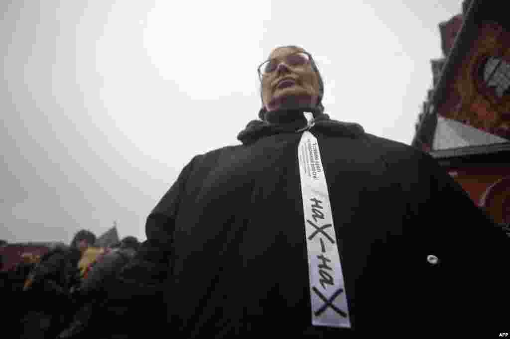 акция Левого крыла оппозиции, на прилегающей к Манежной площади территории