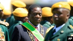 President Emmerson Mnangagwa at his inaguration in Harare on Sunday.