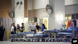 مقامی طبی مرکز میں زخمیوں کے لیے کیے گئے انتظامات