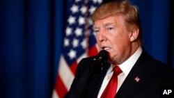 آقای ترامپ در یک سخنرانی کوتاه دلایل صدور فرمان حمله را توضیح داد.