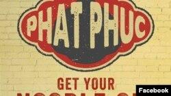 Quảng cáo 'Phật Phúc' của nhà hàng Hanoi Bike Shop ở Glasgow.