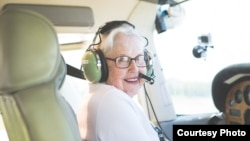 Mary Moe achieves her dream at age 91. (Photo courtesy of Helen Johns, of Helen Johns Photography)