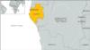 Map of Gabon, Africa