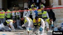 محل حمله روز سه شنبه مهاجمان به کنیسه در اورشلیم