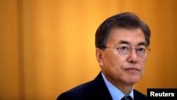 Presiden Korea Selatan Moon Jae-in, di Seoul, 22 Juni 2017. (REUTERS/Kim Hong-Ji)