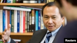 FILE - Dr. Francis Fukuyama, former Bernard L. Schwartz Professor of International Political Economy, seen at the Paul H. Nitze School of Advanced International Studies, The Johns Hopkins University, Washington D.C., Oct. 2008.