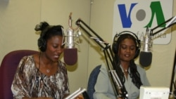 VOA Swahili journalists Esther Githui-Ewart and Mkamiti Kibayasi.