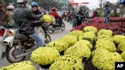 Chợ hoa Hà Nội.